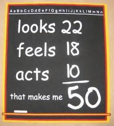 50th Birthday Party Ideas Funny -Being a teacher....this would be ...