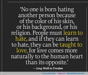 Love and hate motivational inspirational love life quotes sayings ...