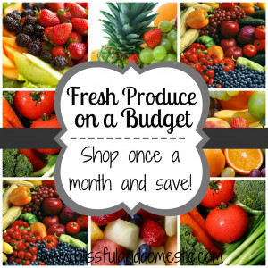 Fresh Produce on a Budget - Have Fresh Produce All Month Long ...