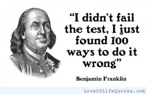 Quotes by Benjamin Franklin Fairles