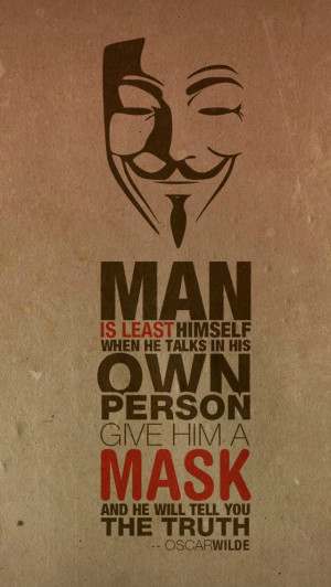 Anonymous Mask Quote Wallpaper