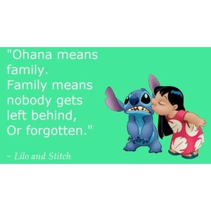 Inspirational picture family, quotes, sayings, cartoon, lilo, stitch ...