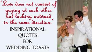 Wedding Toast Inspirational Quotes #WeddingQuotes, #WeddingToasts ...