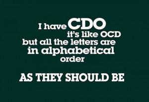 Funny Obsessive Compulsive Disorder OCD Joke Pictures