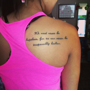 ... John Green quote tattoo: John Green Tattoo'S, Tattoo'S 3, Tattoo'S