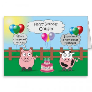 funny cousin birthday quotes