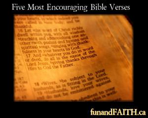 Five Most Encouraging Bible Verses