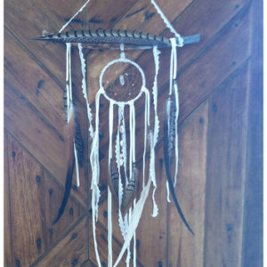 lace OOAK bohemian dream catcher ready to ship windchime boho