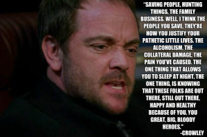 Business, Supernatural, Mark Sheppard, Accurate Things, Crowley Quotes ...