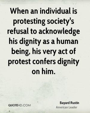 Bayard Rustin Society Quotes