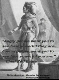 Angry people want you to see how powerful they are ~ Loving people ...