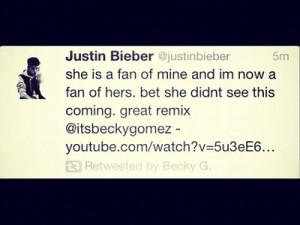 Becky G, Justin Bieber