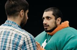 Kayvan Novak and Riz Ahmed in Four Lions