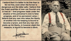HL Mencken; September 12, 1880 – January 29, 1956)