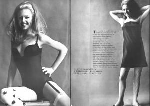 Edie Sedgwick Vogue: spread from Vogue Magazine, 1966, showing 2 ...