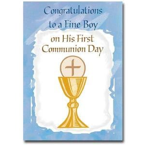 First Communion Card (Boy) Pk5 - CB1425