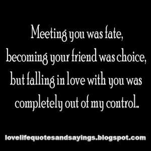Meeting you was fate..