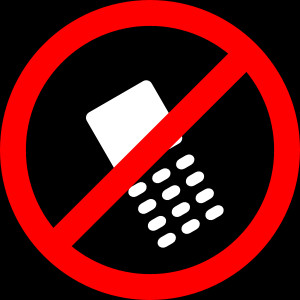 No Cell Phones Allowed clip art