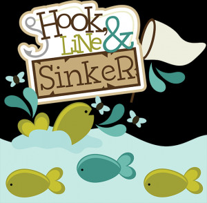 Hook, Line & Sinker SVG scrapbook collection fishing svg files fishing ...