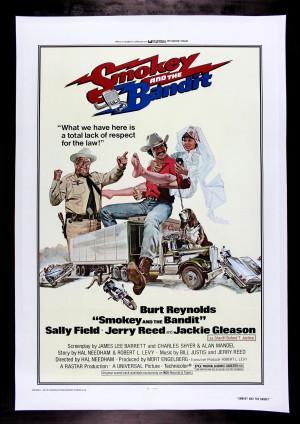 Smokey and the Bandit (Burt Reynolds) Movie/Film Print/Poster/Canvas ...