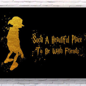 Dobby Harry Potter Quote Gold Art Print Instant Download Printable ...