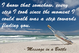Quote from Message in a Bottle