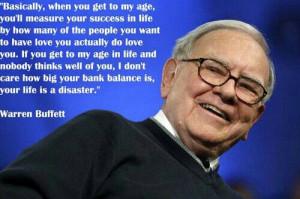 Measuring success -Warren Buffett
