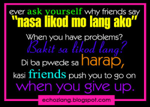 Ever ask yourself why friends say,