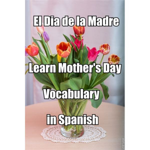 ... learning spanish el dia de la madre mother s day vocabulary in spanish