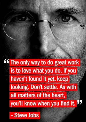 Steve Jobs on Great Work