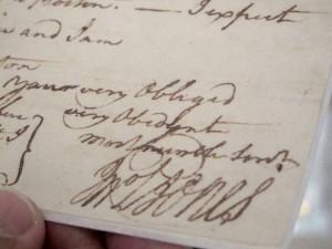 In this June 20, 2013 photo, the signature of John Paul Jones appears ...