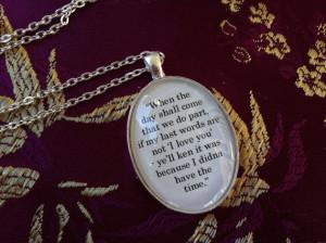 Jamie Fraser Outlander Quote Necklace
