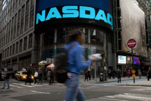 Nasdaq said earlier that trading in shares it lists had been stopped ...