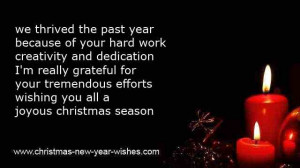 christmas thank you message to workers