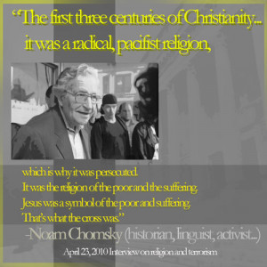 noam chomsky jesus quote pacifism