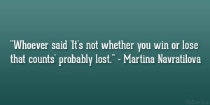 Quotes About Losing Sports