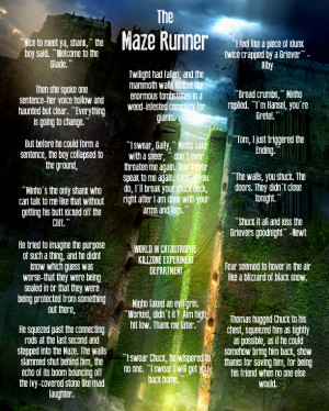 The Maze Runner Best Quotes by batmantribute