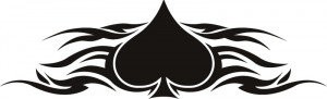 Fire Ace of Spades with Flames Wall Stickers Sports Wall Art Decal ...