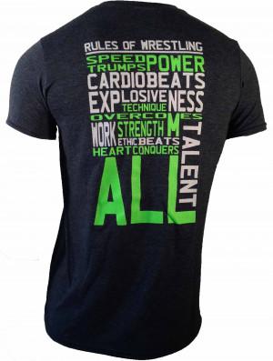 Rules of Wrestling on Dark Heather T-Shirt