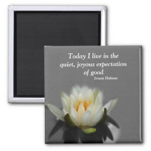 Lotus Flower Inspirational Quote Magnet