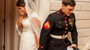 The Touching Story Behind the Viral Photo of a Marine & his Bride ...