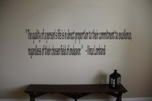 Vince Lombardi Inspirational Football Sports Quote Vinyl Wall Sticker ...