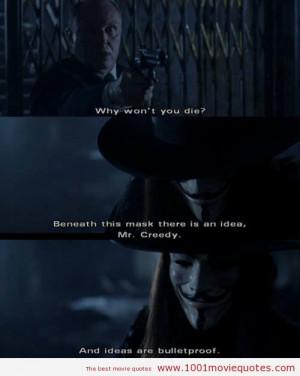For Vendetta (2005) - quotes | 1001 Movie Quotes