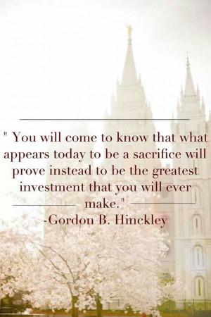 Missionarywork #LDS quotes #Sacrifice PreparetoServe.com