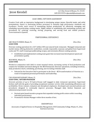 sample resume sle cook resume exle instructional designer