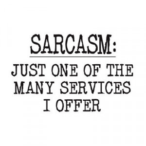 cool, offer, sarcasm, service, style, talk, text, true, words