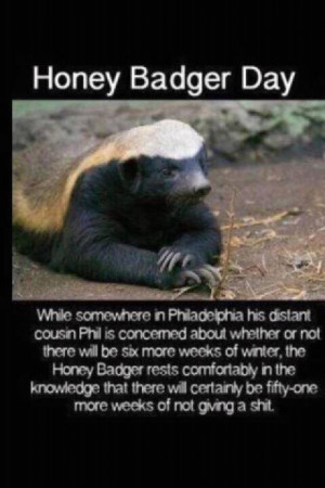 Honey Badger don't give a $^!%