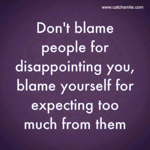 Dont Blame People