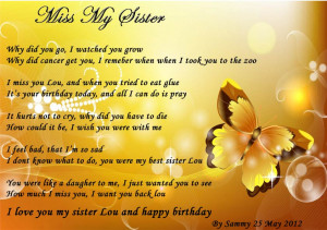 Go Back > Gallery For > I Miss My Sister Quotes