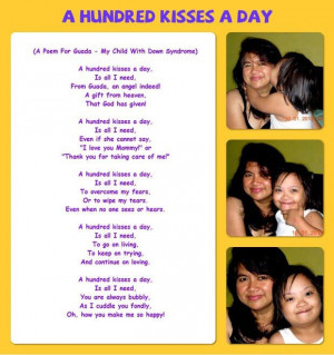 Poems+About+Down+Syndrome | ... Hundred Kisses a Day - A Poem for ...